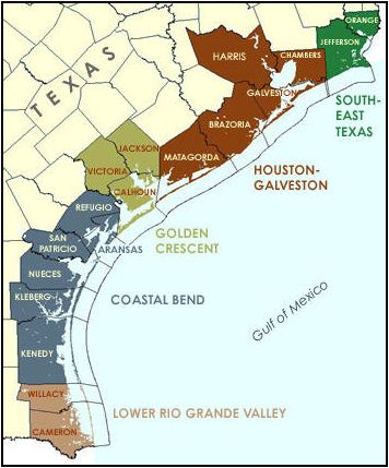 Map Of Texas Gulf Beaches Pictures To Pin On Pinterest