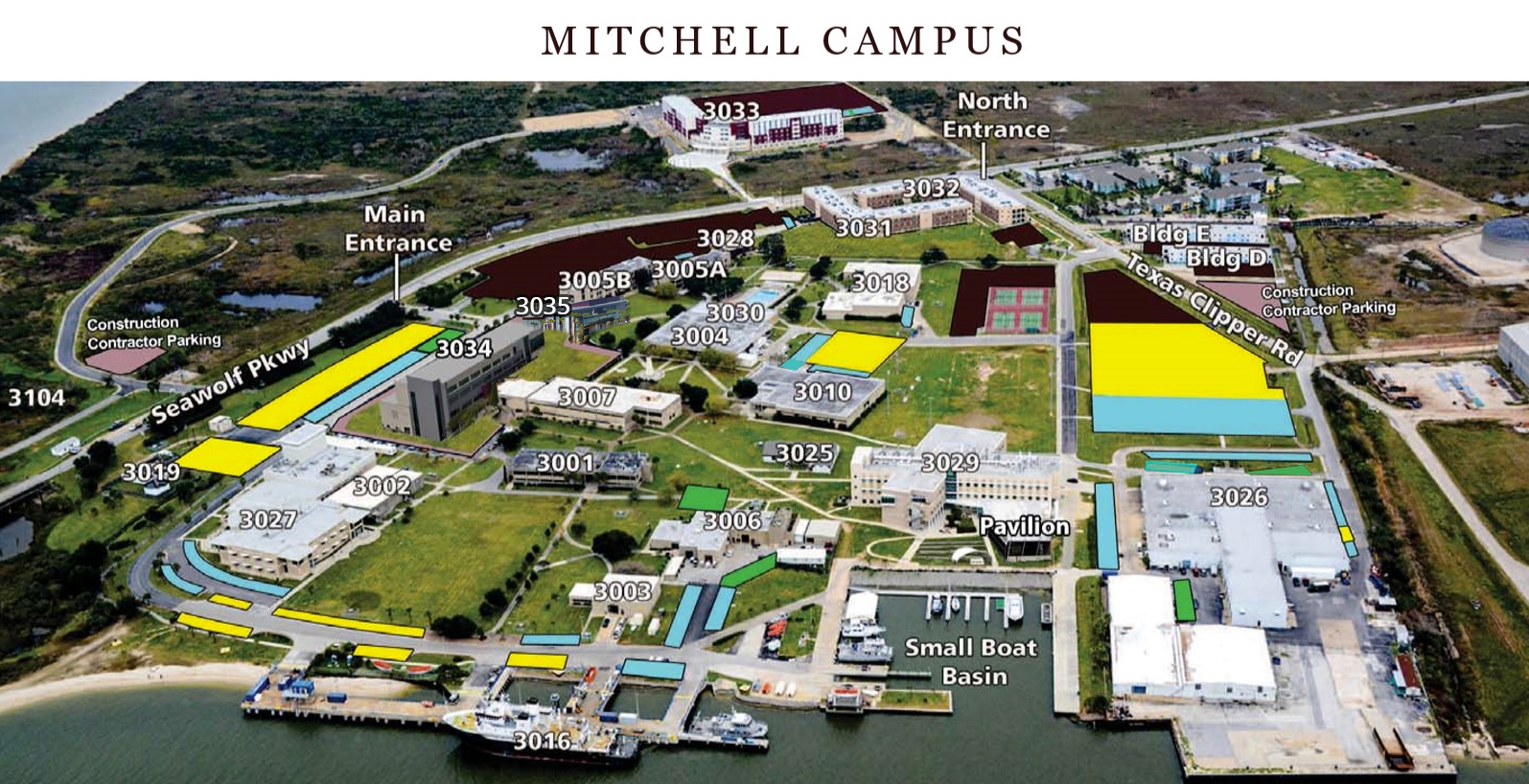 Texas A M University Galveston Campus Maps And Directions Texas