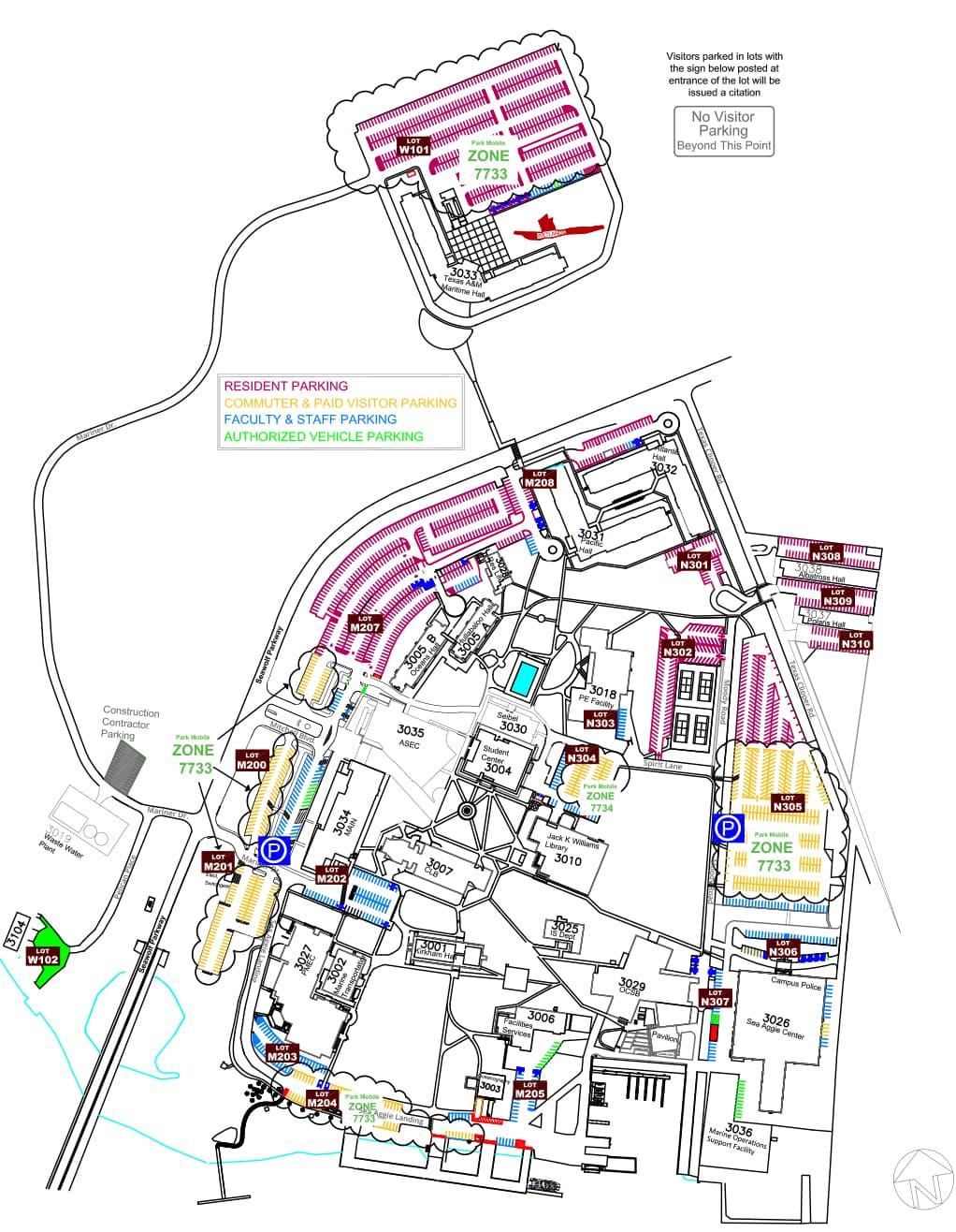 texas a m galveston campus map Tamug Paid Visitor Parking Texas A M At Galveston Tx