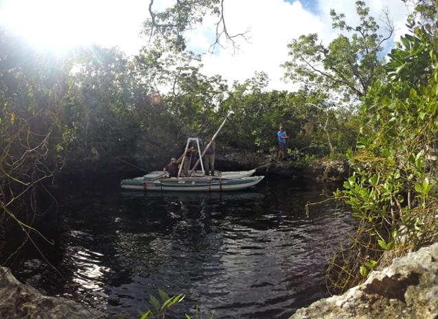Sinkhole cistern area on Great Abaco Island