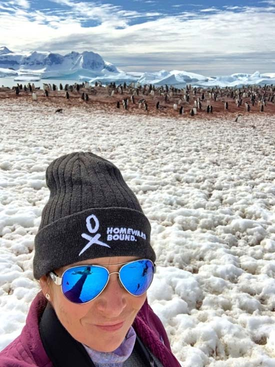 Finn in Antarctica on a recent expedition with Homeward Bound