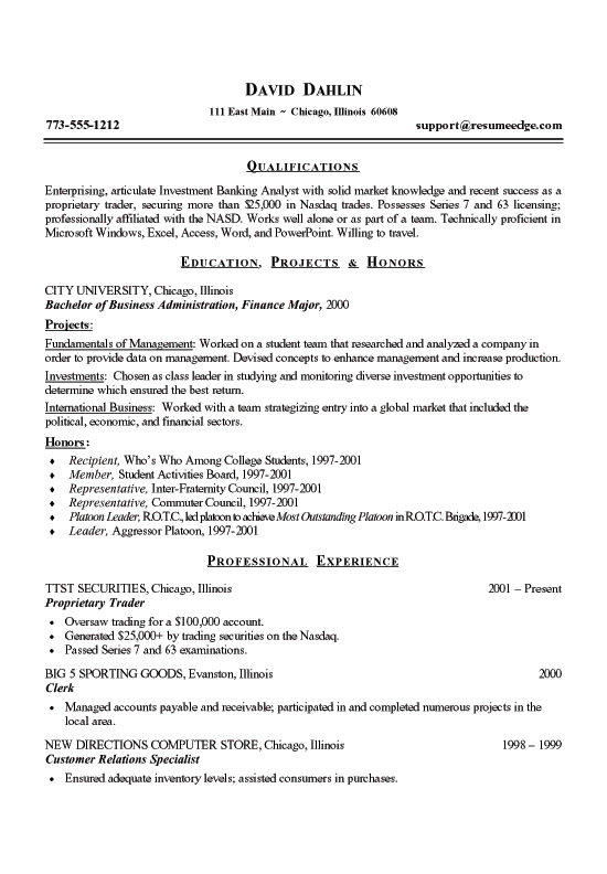 Professional And Executive Writing Resume Fig  Sample Student Resume